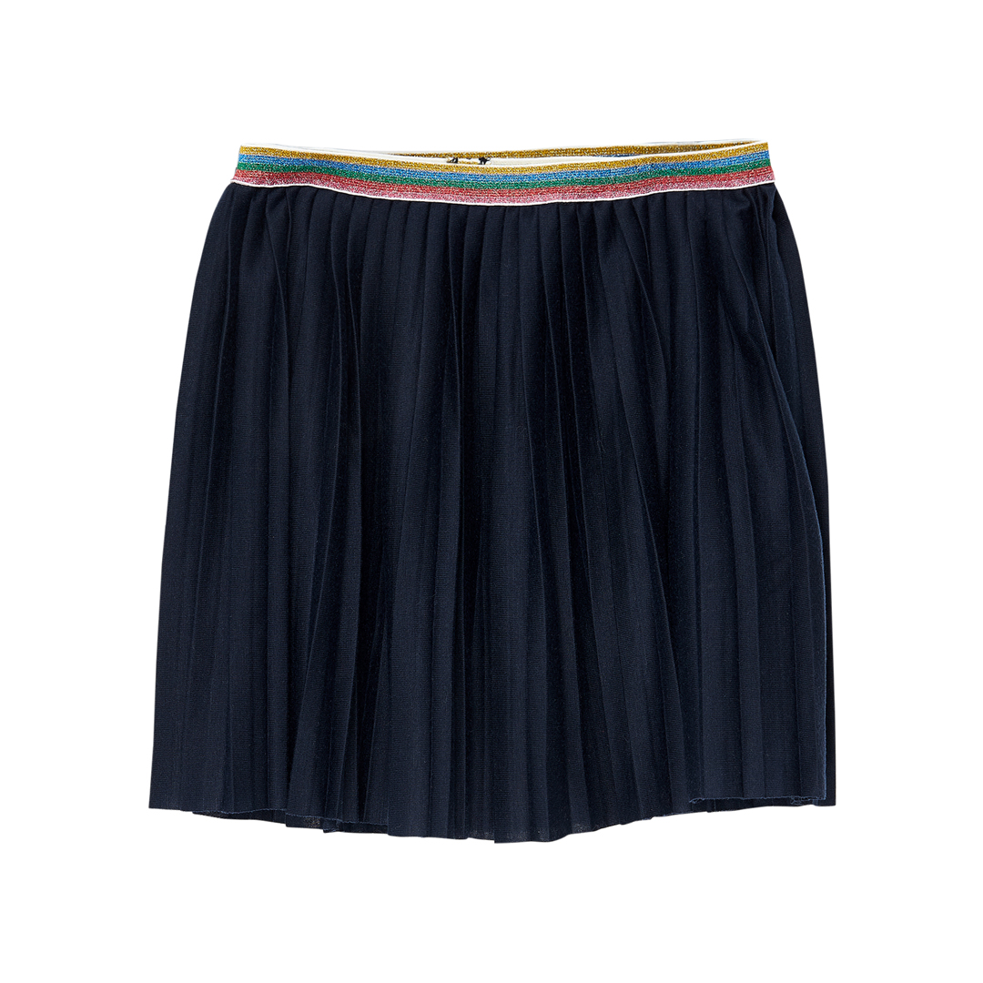 Jagrajup4 Girls Navy Pleated Skirt
