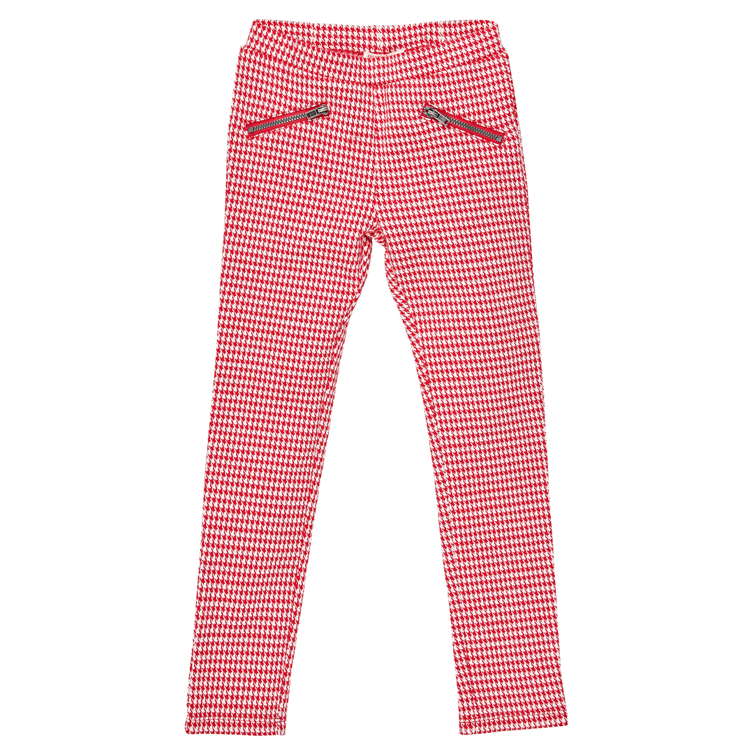 Jagrapant Girls Checked Cotton Mix Pencil Trousers