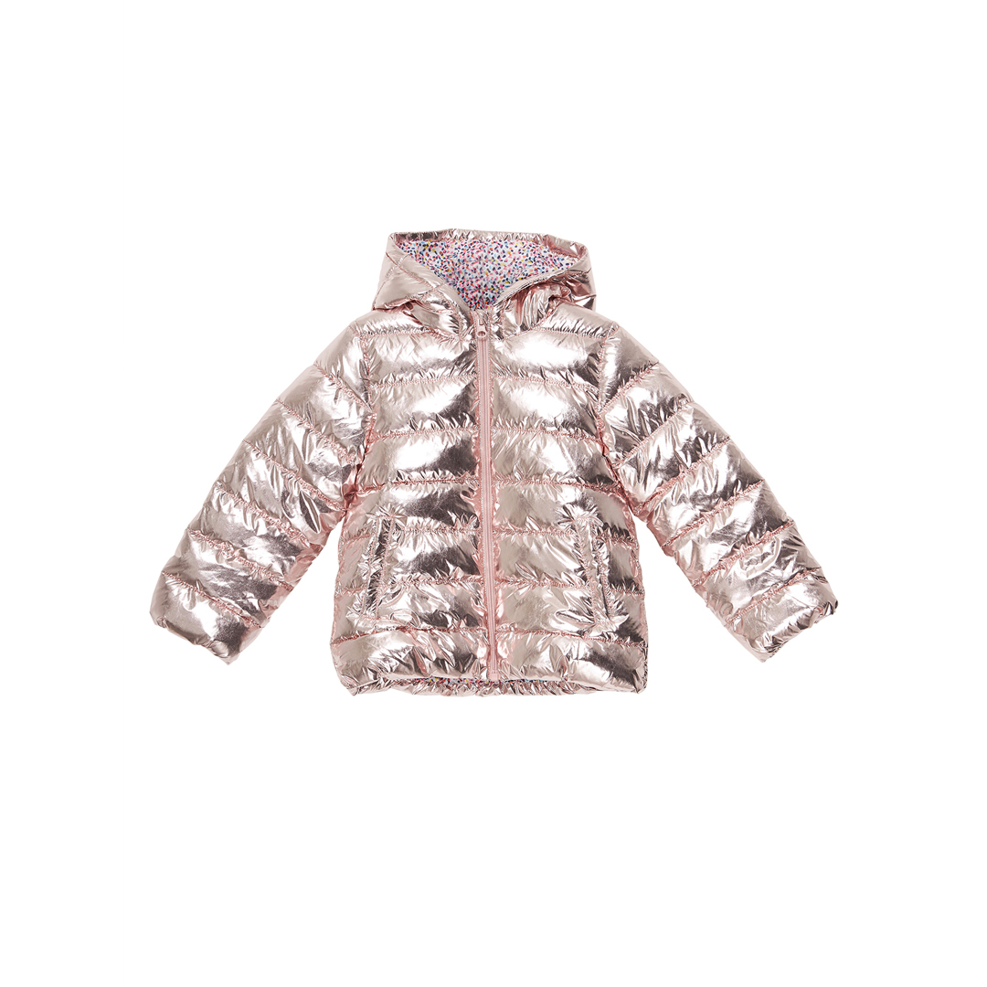 Jarosdoune Girls Rose Gold Puffa Jacket
