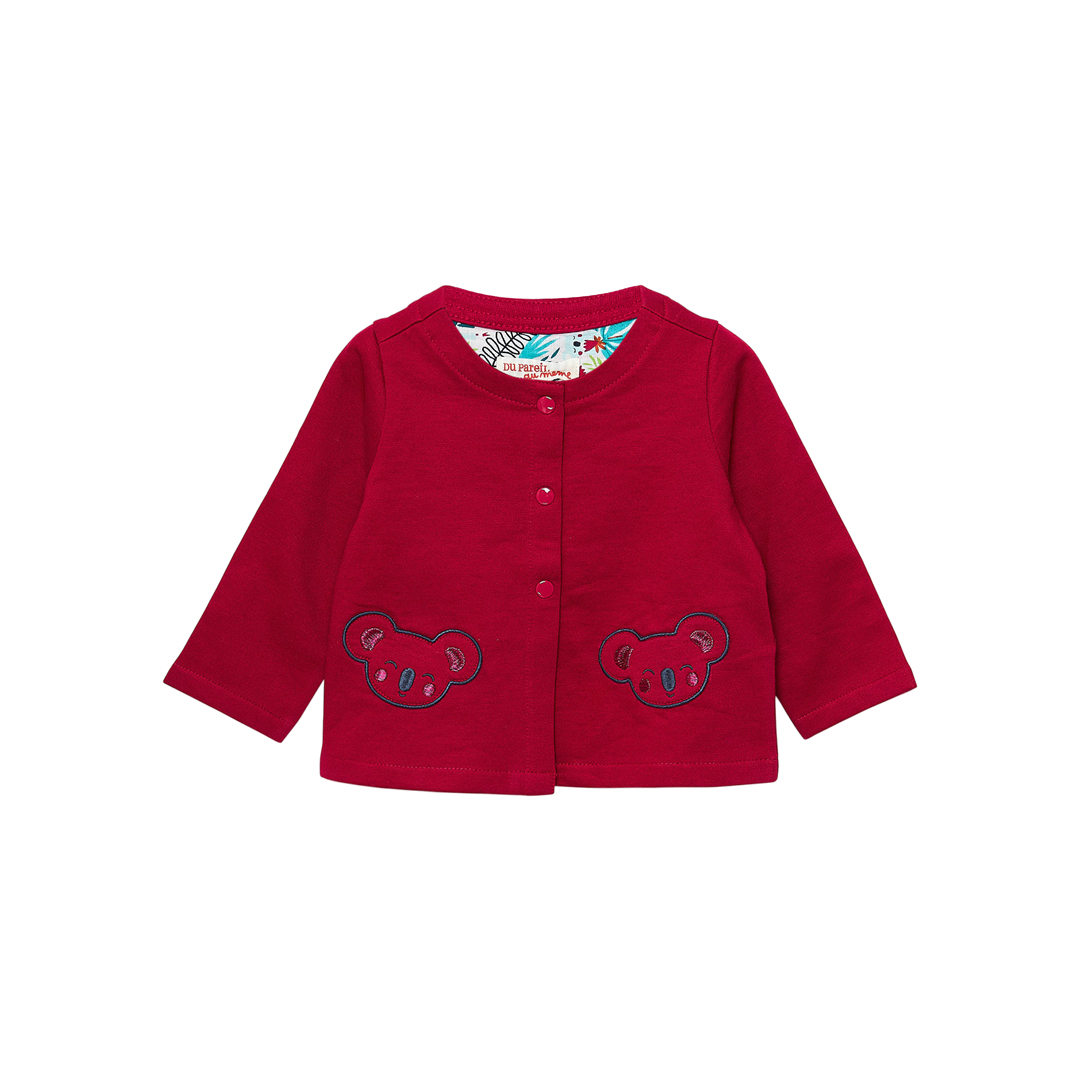 Jiclocar2 Baby Girls Cherry Fleece Cardigan