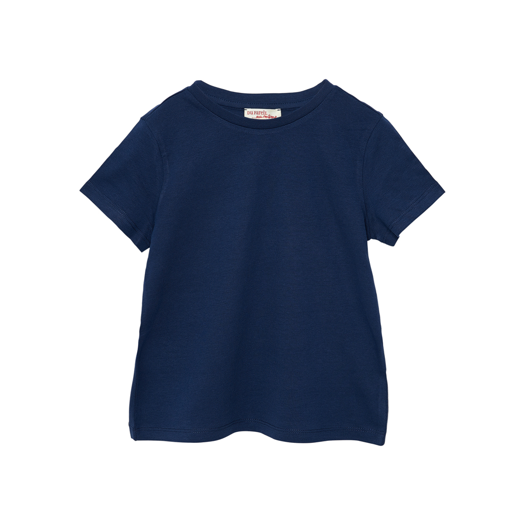 Joesti2 Boys Basic Navy Short Sleeved Cotton T-shirt