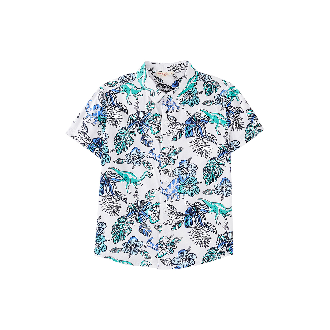 Joquashirt Boys Printed Cotton Short Sleeved Shirt