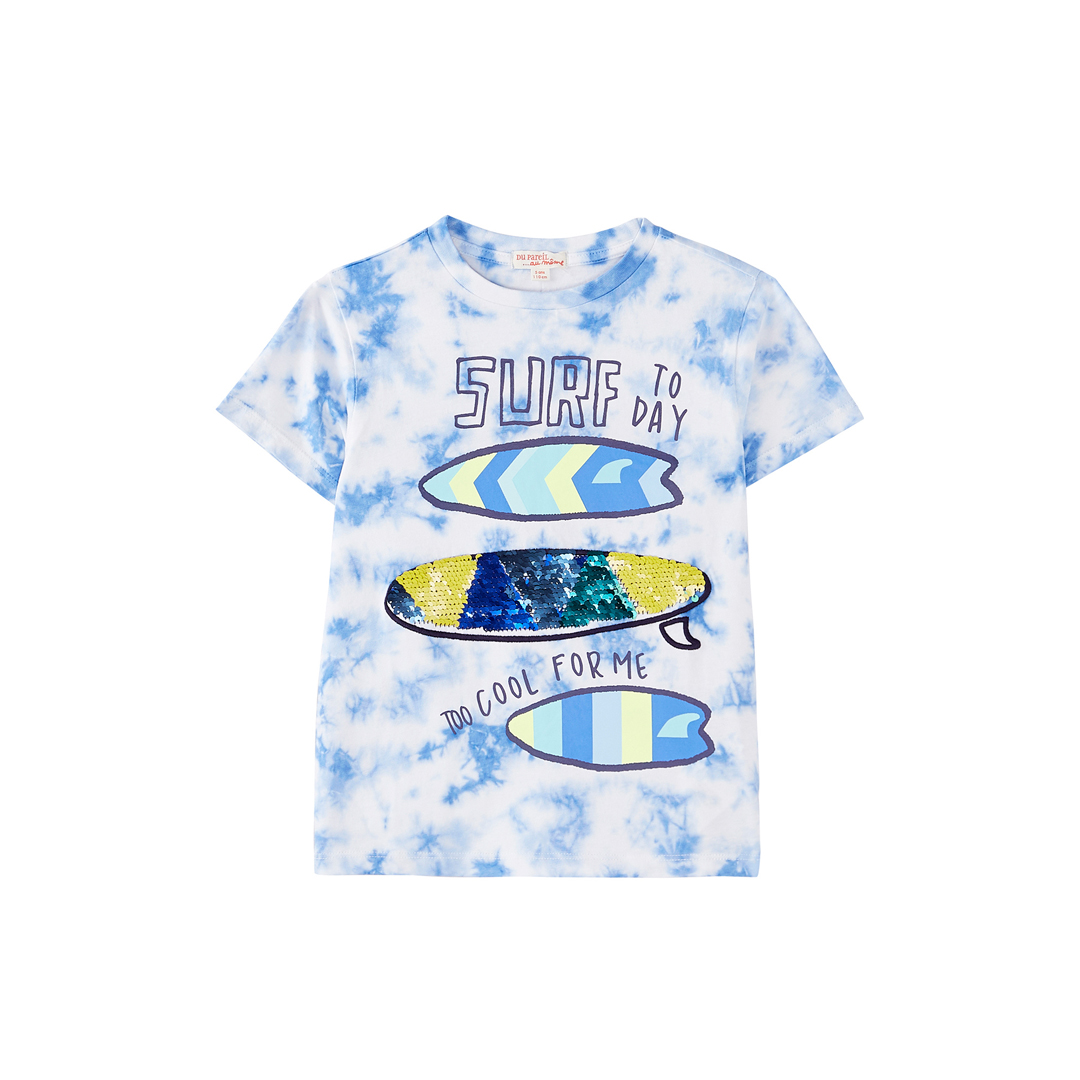 "Joquati4 Boys Tie Dye ""surf board"" T-shirt"