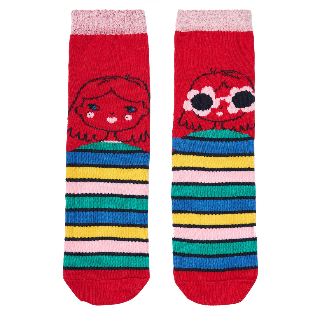 Jyagracho Girls Patterned Cotton Socks