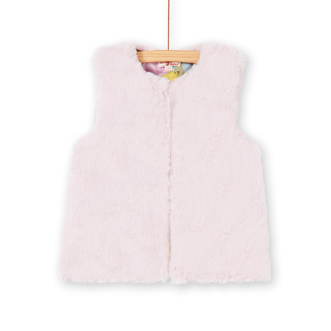 Kabocar1 Girls Reversible Faux Fur Gilet