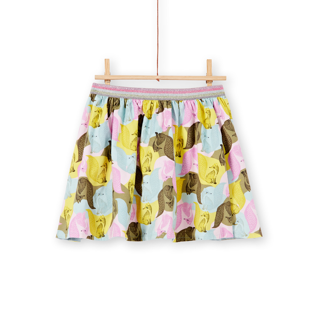 Kabojup2 Girls Reversible Corduroy Skirt