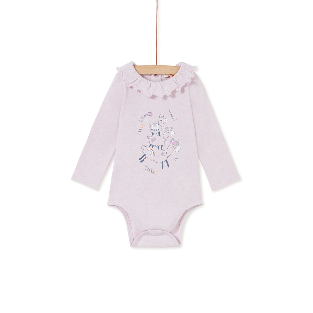 Kibobod1 Baby Girls Lilac Cotton Bodysuit
