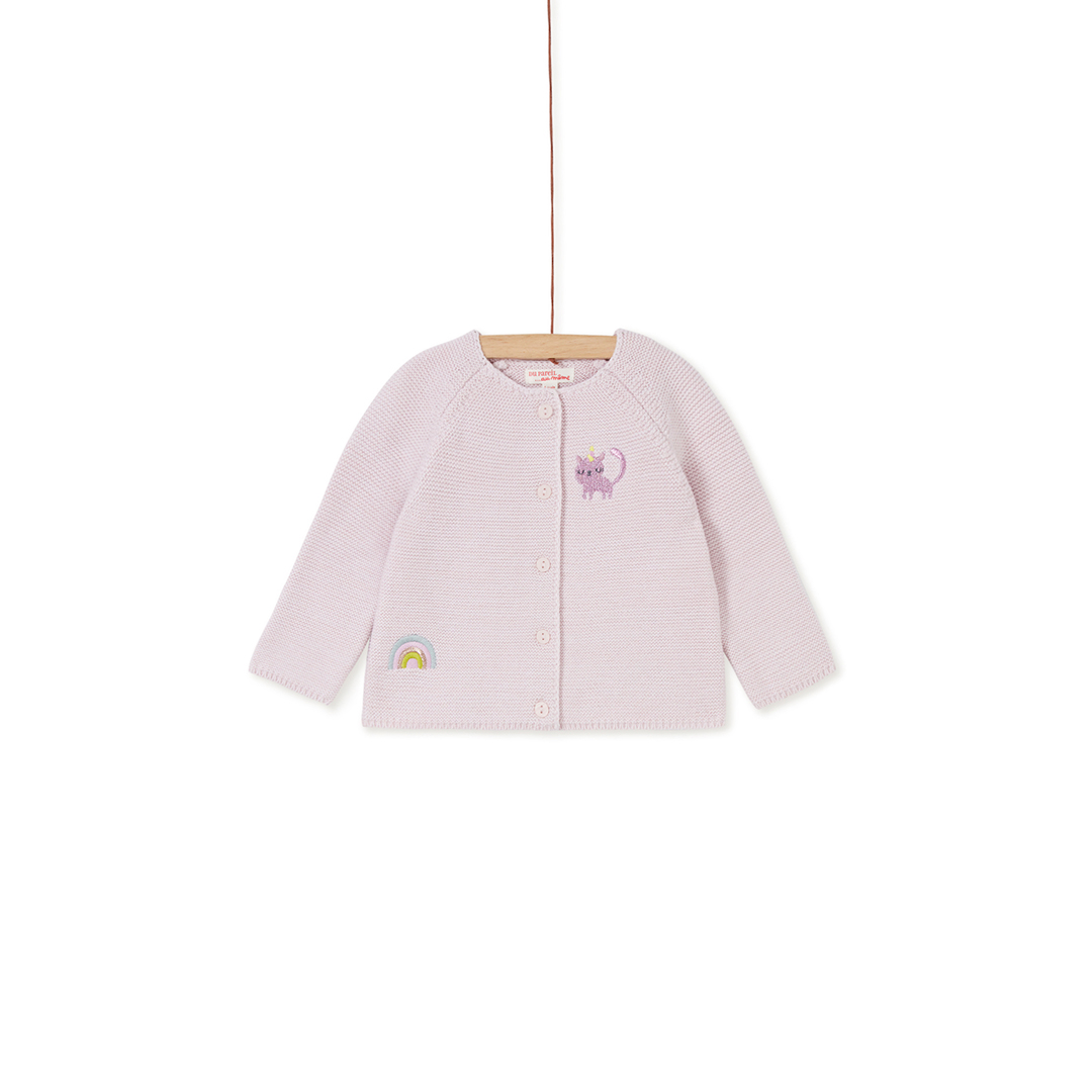 Kibocar1 Baby Girls Lilac Cotton Mix Cardigan