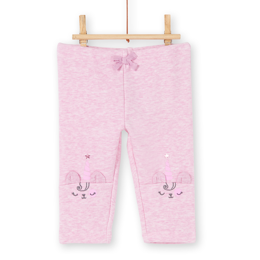 Kibopan Baby Girls Pink Fleece Lined Pants