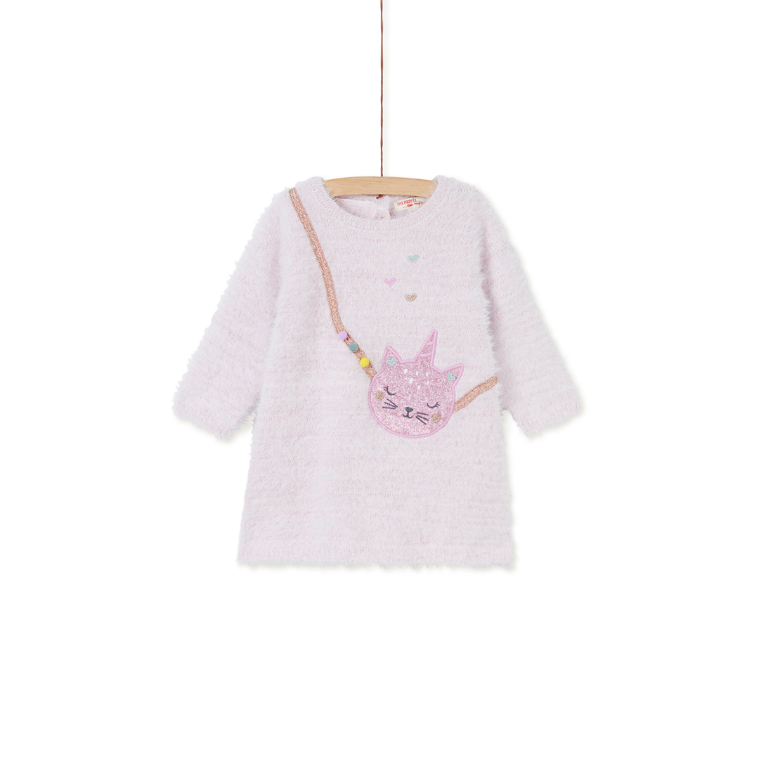 Kiborob1 Baby Girls Pink Knit Dress
