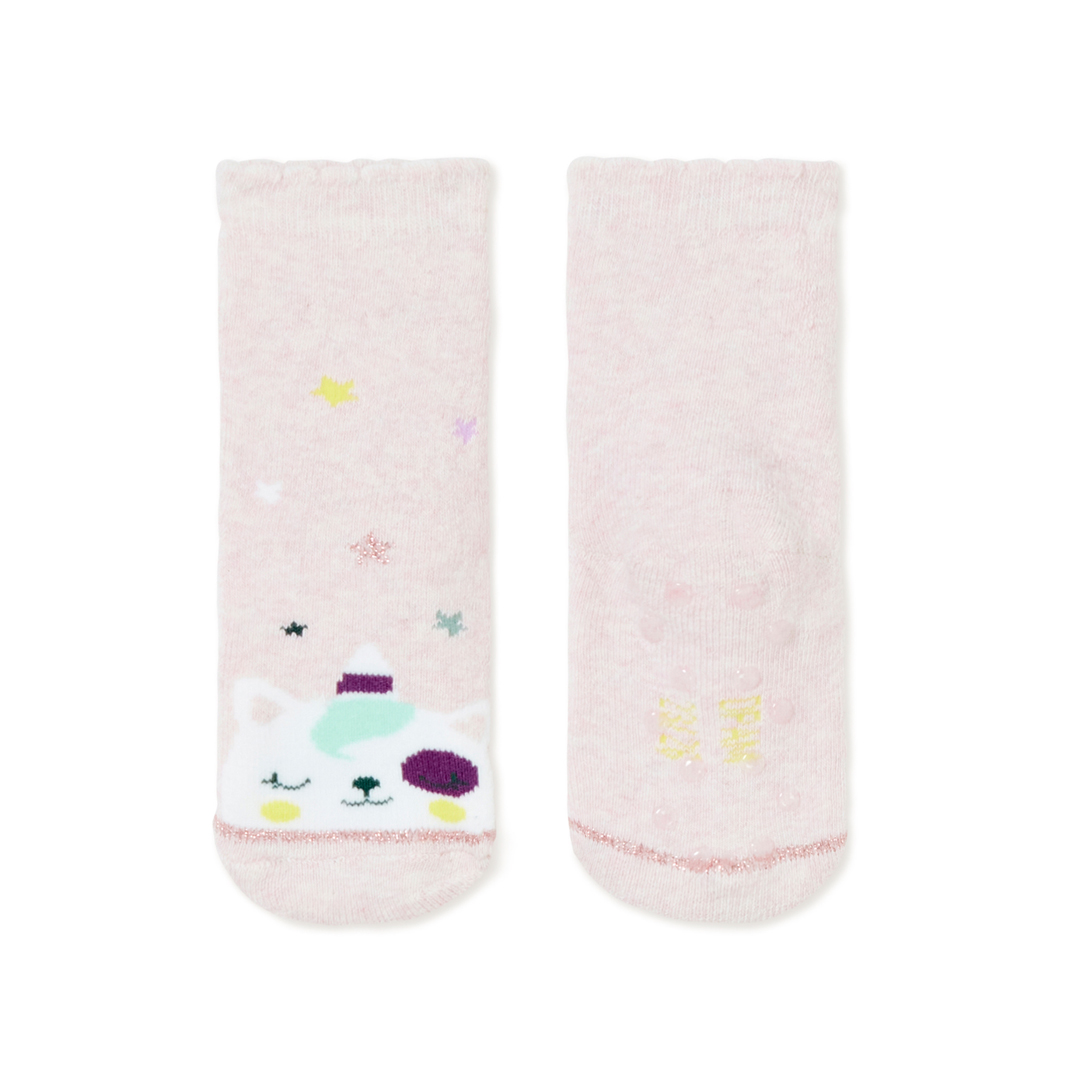 Kyibochob Baby Girls Pink Cotton Mix Socks