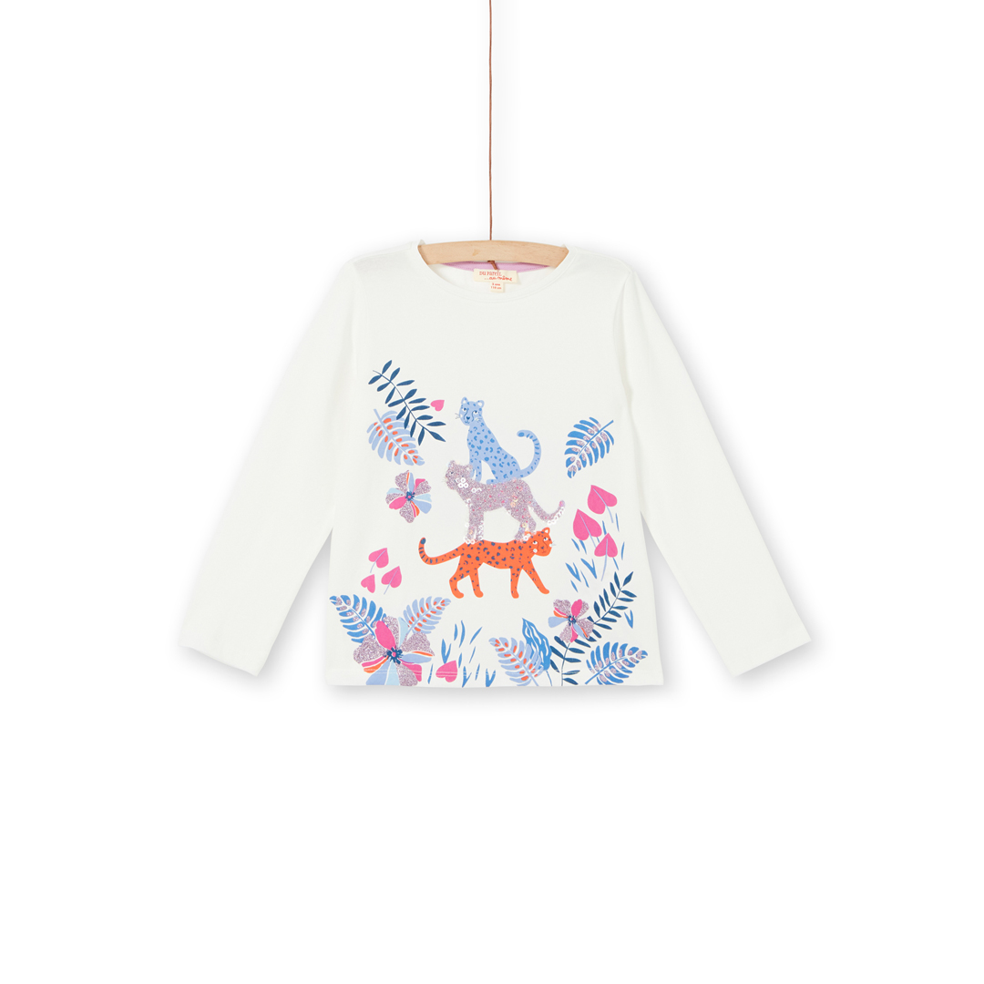 Labletee2 Girls Sequinned Cotton T-shirt