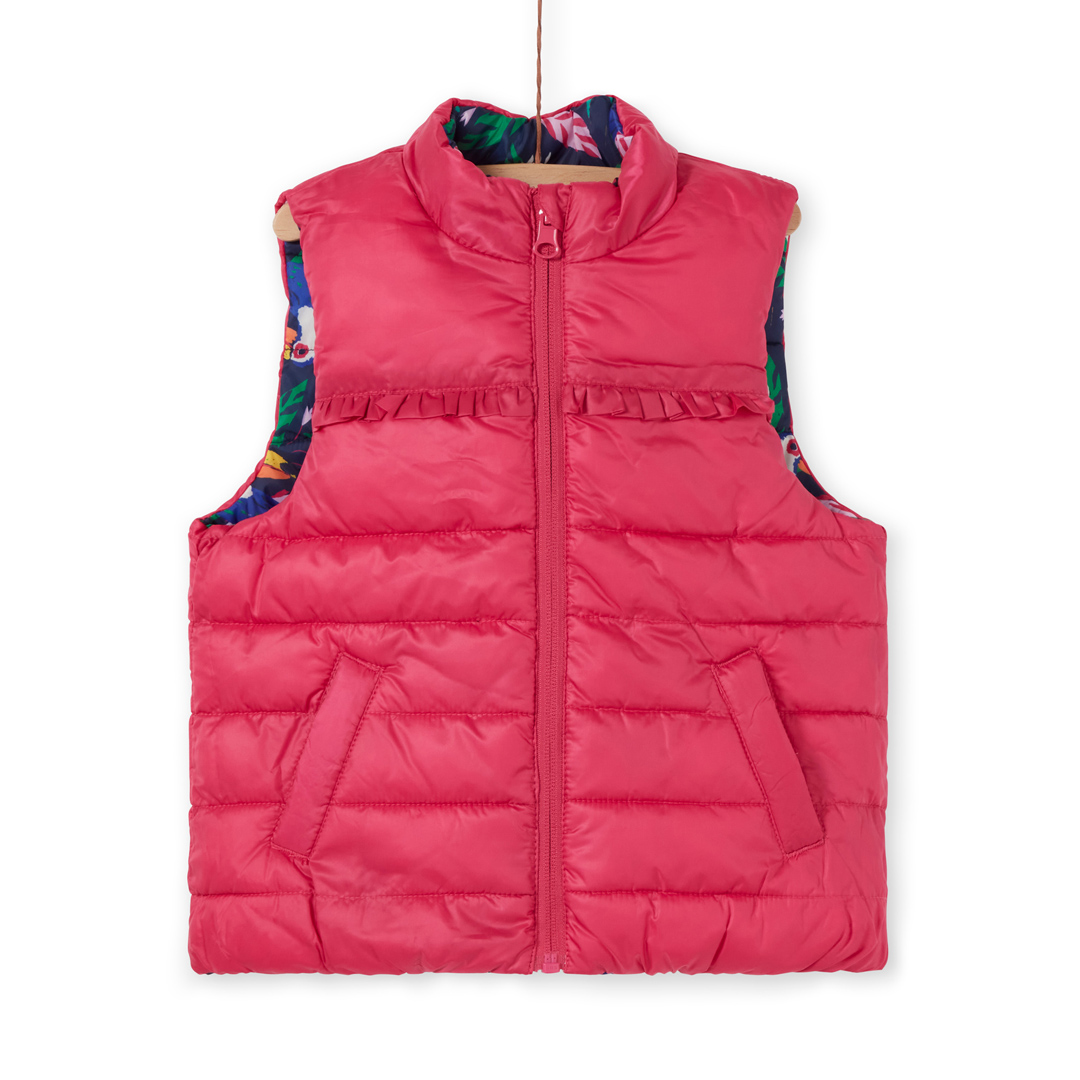Lafoudounex Girls Reversible Sleeveless Jacket