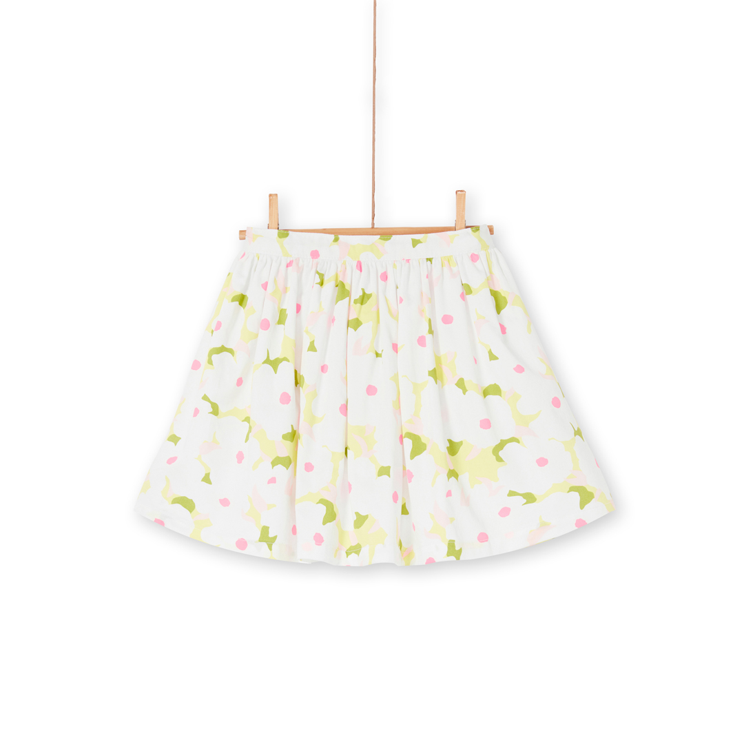 Lajaujup2 Girls Lined Printed Skirt