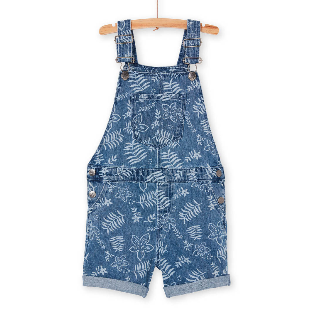 Lanausac Girls Denim Short Dungarees