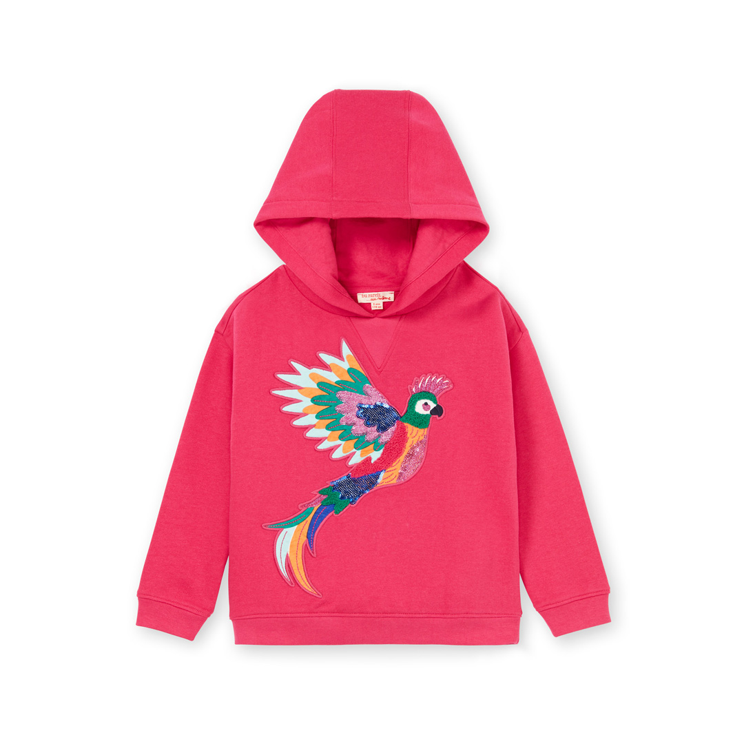 Lanauswea Girls Red Brushed Fleece Sweatshirt