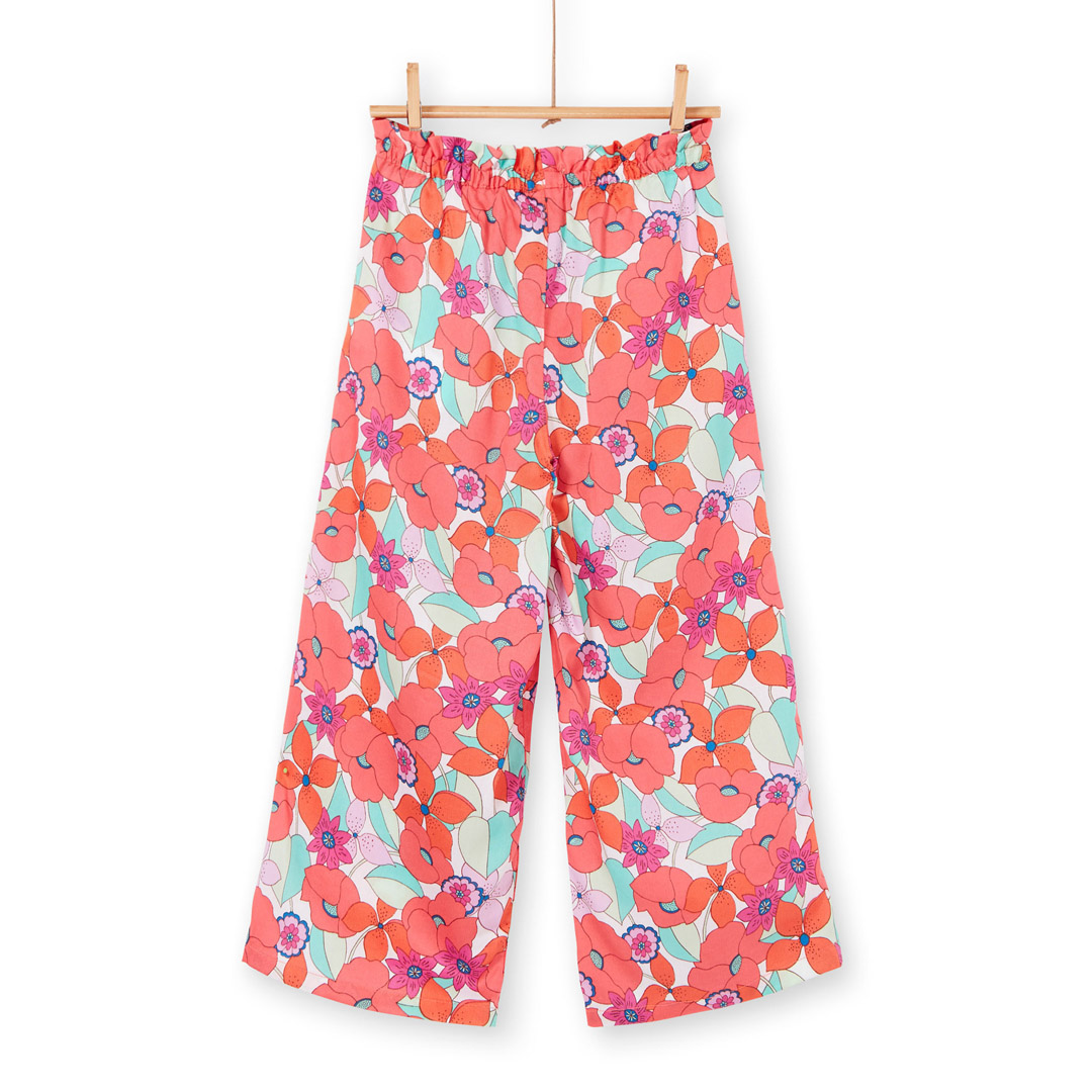 Lavipant Girls Printed Flared Trousers