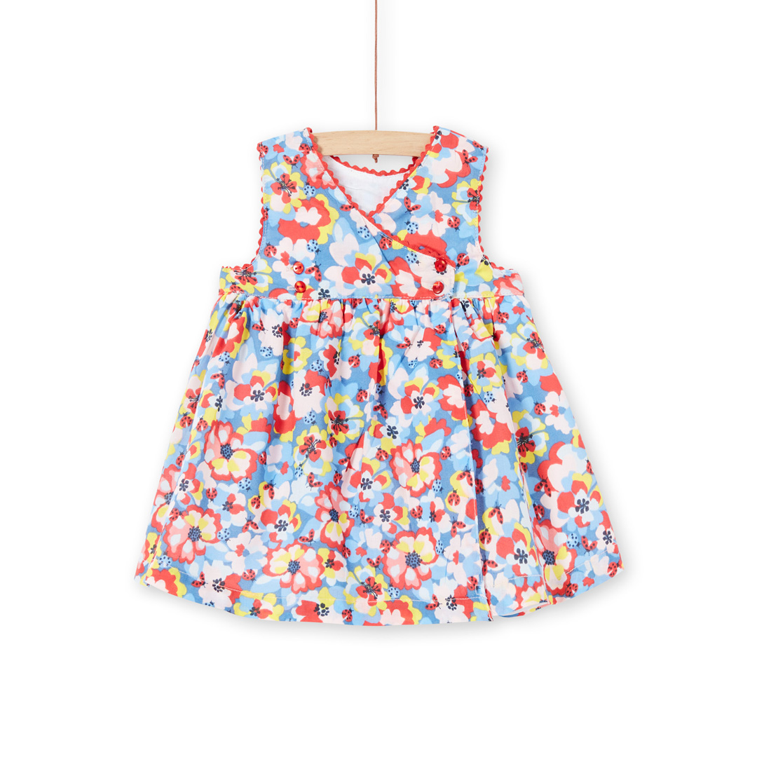 Licanrob2 Baby Girls Lined Printed Cotton Dress