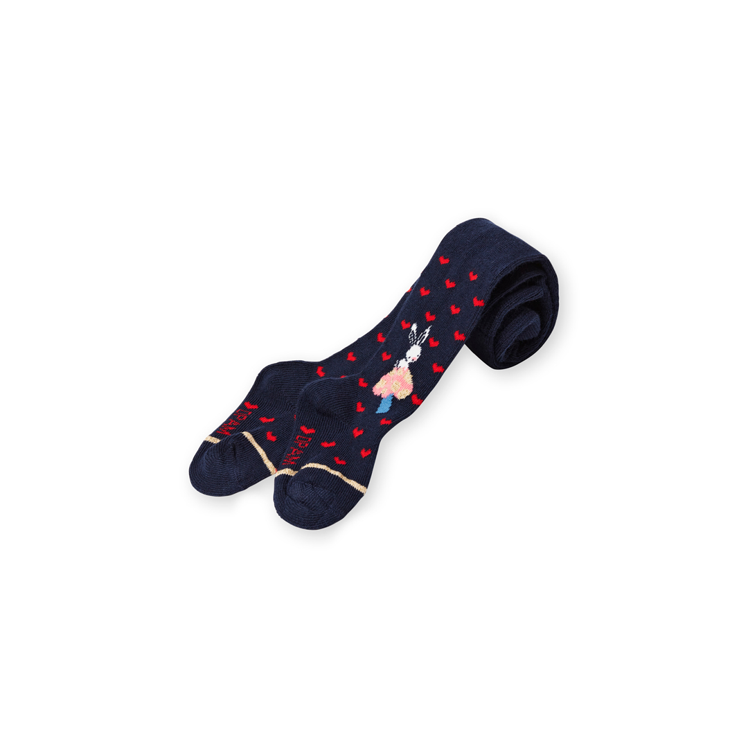 Lyihacol Baby Girls Patterned Navy Cotton Tights